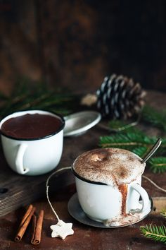 "coffee-tea-and-sympathy:  "" Magical Hot Chocolate by MajaG  """