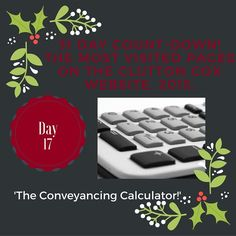 Day 17 of our 31 Day Countdown! Conveyancing Calculator! #conveyancing #movinghome #property