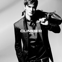 """CLIMBER B.C.'s combinations bring together elegance in style with a dynamic urban aesthetic. (...) Fit form jacket-pant combinations, modern, lycra shirts, thin knitted cardigans, neo-classic leather shoes, casual forms, leather and metal accessories. Every detail elegant and arty."" - Nergis Senturk #climberbc #lovemarks"