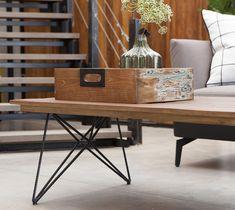 שולחן סלון מעץ טיק ממוחזר