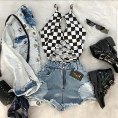 Dahlia blossom came from both sides of the track. Her mother, Rose Bl… Summer Outfits For Teens, Teenage Outfits, Teen Fashion Outfits, Cute Casual Outfits, Edgy Outfits, Grunge Outfits, Festival Outfits, Aesthetic Clothes, Ideias Fashion