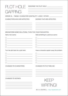 Plot Worksheet