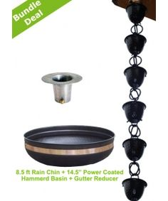 HOw cool is this?  Replace your gutter with a 'rain chain' 3 Pcs Aluminum Hammer Cup Rain Chain  Bundle
