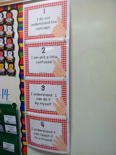 This is a good assessment to use from beginning of the year to the end. If the students do not understand a lesson they will hold up a 1. If the students understand but are a little confused, they will hold up a 2. If they understand and can do it by themselves then they hold up a 3. Lastly, if they are an expert and can teach the lesson to a friend then they hold up a 4. You can ask them to assess themselves after each lesson before you move forward.