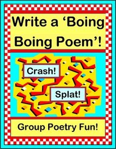 Write GROUP POETRY and start with a CRASH! This tale of a classroom mishap will encourage the most amazing DESCRIPTIVE LANGUAGE from your kids! Use the 2-Page POEM ROSTER to record each kid's responses. Then fill in the 3-Page POEM TEMPLATE to share your amazing CLASS POEM with your families! (13 pages) From Joyful Noises Express TpT! $