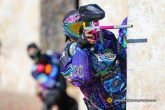 HK Army HardLine Jersey San Diego Techno Kitty Paintball Team Planet Eclipse Geo 3.1 Virtue Spire Dye Paintball i4 Mask