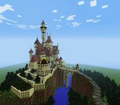 Beauty and the Beast Castle - Screenshots - Show Your Creation - Minecraft Forum Minecraft House Plans, Minecraft Castle, Minecraft Buildings, Minecraft Ideas, Belle's Castle, Significant Otter, Amazing Minecraft, Big Building, Beauty And The Beast