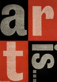Paula Scher (1948-) et Silas H. Rhodes, Art Is (1996)