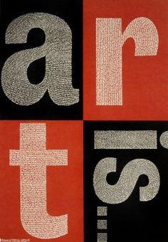 Paula Scher (1948-) et Silas H. Rhodes, Art Is (1996)