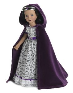 "Amazon.com: Royal Purple Dolls Cloak and Silver Crown - Fits 18"" American Girl Dolls and Carpatina Dolls: Toys & Games"