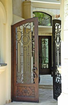 Cantera Doors provides hand-forged custom-made iron staircase \u0026 balcony railings for & Alhambra-75 - Wrought Iron Doors Windows Gates \u0026 Railings from ... Pezcame.Com