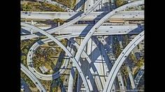 Los Angeles highway and road network  Jeffrey Milstein/REX FEATURES