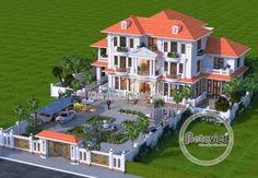 House Arch Design, Village House Design, Kerala House Design, Home Building Design, Bungalow House Design, Building A House, Classic House Exterior, Classic House Design, Modern Exterior House Designs