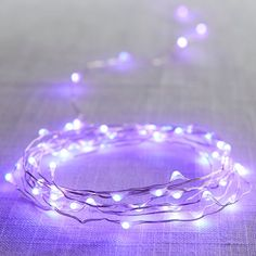 Purple LED Glimmer Strings Care Skin Condition and Treatment Oil Makeup Light Purple Rooms, Purple Lamp, Purple Bedrooms, Purple Walls, Lilac Room, Purple Bedroom Decor, Purple Hues, Periwinkle, Lavender Aesthetic