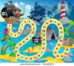 Pirate Board Game Printable Template from Printable Board Games Pirate Activities, Pirate Games, Pirate Theme, Activities For Kids, Board Game Template, Printable Board Games, Templates Printable Free, Printables, Board Game Themes