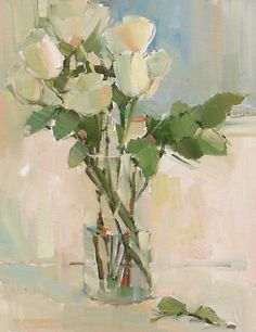 Nancy Franke, Musings on Painting: White Roses, and Painting with Friends...