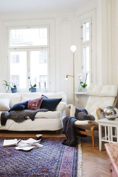 love this comfy living room...except a different color for the upholstery.