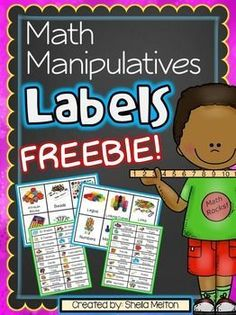 Organizing your classroom's Math Manipulatives will be a piece of cake with these FREE Math Manipulative Labels! All labels feature real pictures of all the manipulatives and come in two different versions. Over 60 math manipulative labels in all! Preschool Math, Math Classroom, Kindergarten Math, Teaching Math, Classroom Setup, Maths, Classroom Labels Free, Classroom Libraries, Inclusion Classroom