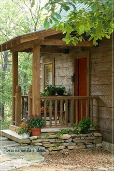 Pergola Against House Patio Roof, Pergola Roof, Pergola Kits, Pergola Ideas, Cabins And Cottages, Village Houses, Cabins In The Woods, Cottage Homes, Log Homes