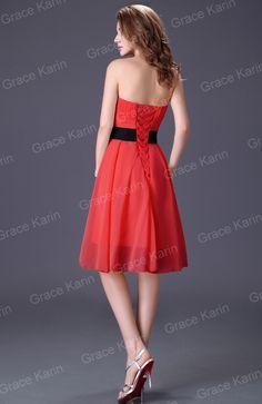 Backside, Red Chiffon Bridesmaid Dress $29.48 Ebay.com