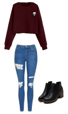 """""""Fall / winter outfit"""" by madisenharris on Polyvore featuring Topshop"""