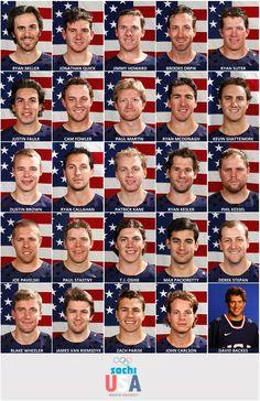 USA Men's Hockey Team 2014 - Sochi