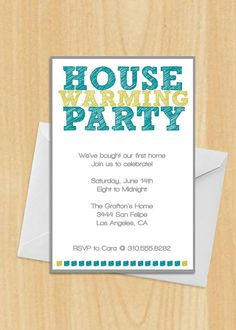 House Warming Party Invitation by MadeByBree on Etsy, $17.00