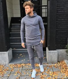 Thyson B in the Avid & Co. Charcoal Tracksuit