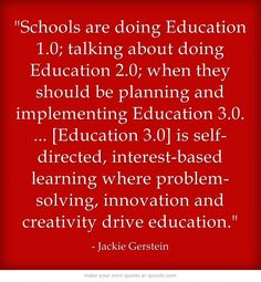 I think homeschooling is a big part of Education 3.0. What do you think?