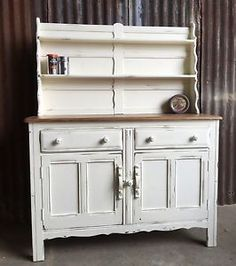 Ercol Sideboard Dresser Base 4 Drawers With Stunning Elm Top In Paris Grey