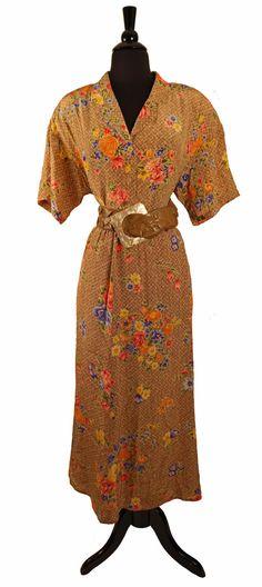 Vintage 80's Diane Von Furstenberg Silk 2 piece by TheHoneyWitch