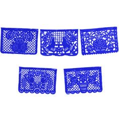 4th of July Decorations Large Royal Blue Plastic Picado Image
