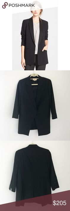 Elizabeth and James Black Blazer Size 6 Elizabeth and James classic black blazer in size 6. Runs true to size. Had a comfortable fit. Can be worn to work or for a night out. Purchased at Neiman Marcus for $495. Worn only twice. Elizabeth and James Jackets & Coats Blazers