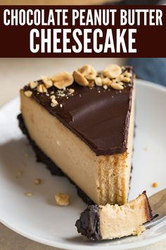 Decadent Chocolate Peanut Butter Cheesecake with creamy peanut butter cheesecake, chocolate cookie crust, and chocolate ganache over the top. Chocolate Peanut Butter Cheesecake Baked by an Introvert introvertbak Decadent Chocolate, Homemade Chocolate, Chocolate Ganache, Chocolate Filling, Chocolate Peanut Butter Cheesecake, Nutella Cheesecake, Peanutbutter Cheesecake Recipes, Peanut Butter Chocolate Pie, Baked Cheesecake Recipe