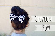 Black Chevron Hair Bow by myjustpeachyshop on Etsy, $4.99