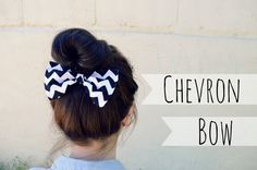 Black Chevron Hair Bow by myjustpeachyshop on Etsy, $4.99