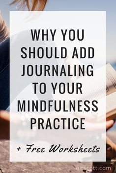 As I thought about what has helped me enter this focus of mindfulness, one tool came to mind almost instantly: journaling. We've chatted quite a bit about journaling lately, but of all the different mindful practices I've tried and incorporated into my life, journaling still proves to be the most beneficial.  How can journaling help with mindfulness? Click through to continue reading+ download the FREE mindfulness worksheets