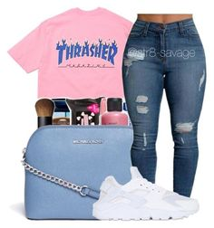 Bubblegum by str8-savage ❤ liked on Polyvore featuring Michael Kors and NIKE