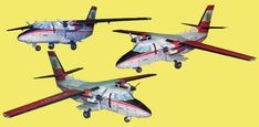 Let L-410 Turbolet Free Aircraft Paper Model Download