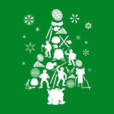 Teenage Mutant Ninja Turtles Christmas Tree Silhouette