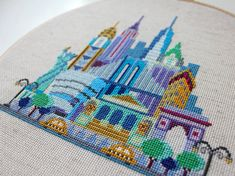 Pretty Little New York Modern Cross stitch by SatsumaStreet