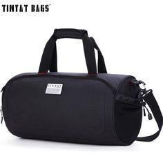 TINYAT Men Travelling Handbag Bag with shoes pouch Waterproof Canvas Shoulder Duffel Bag Large Women Carry Trip Luggage Bag tote Travel Tote, Travel Luggage, Luggage Bags, Large Women, Large Bags, Fashion Bags, Tote Bag, Duffel Bags, Gym Bag