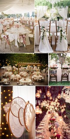 Ideas de recpción  bodas vintage.