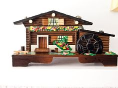 Toy Train House  Vintage Music Box Swiss Alpine by ARTinBOXES, $75.00