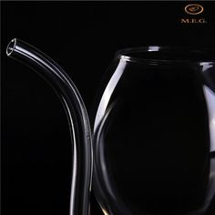 Venetian mirrors Wine Glass With Built In Straw Venetian Mirrors, Wine Decanter, Wine Glass, Social Media, Canning, Straws, Bridal Showers, Drinks, Stability