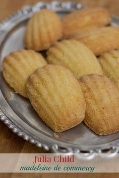 Julia Child's French Madeleines, Madeleines Recipe, Julia Child's Classic French Madeleines - - Recipe for Julia Child's Classic French Madeleines de Commercy from her book way to cook. Recipe for Madeleine cookie / cake. Desserts Français, French Desserts, Dessert Recipes, French Food, Plated Desserts, Madelines Recipe, Baking Recipes, Cookie Recipes, French Cooking Recipes