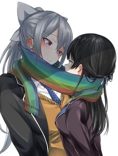 Yuri, Anime Couples, Cute Couples, Shoujo, Manga, Lgbt, Lesbian, Random, Amor