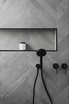 Affordable Stone Tiles Designs For Bathroom Shower Affordable Stone Tile Designs for the Bathroom Shower 23 Bathroom Tile Designs, Bathroom Interior Design, Bathroom Ideas, Bathroom Pictures, Modern Bathroom Tile, Chevron Bathroom, Modern Shower, Budget Bathroom, Bathroom Colors