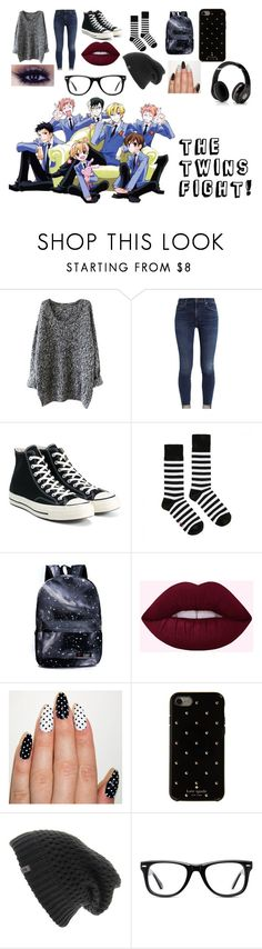 """Untitled #62"" by deathlyhallows12 on Polyvore featuring Converse, Dr. Martens, Kate Spade, The North Face, Muse, Episode and Beats by Dr. Dre"
