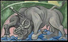 PICASSO /muerte del toro 1934 (death of the bull